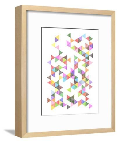 Technicolour Raindrops-Fimbis-Framed Art Print