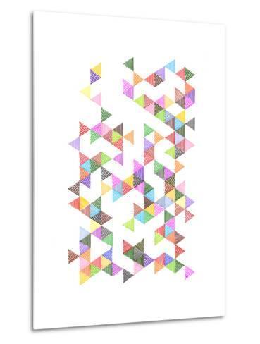 Technicolour Raindrops-Fimbis-Metal Print