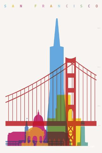 San Francisco-Yoni Alter-Stretched Canvas Print