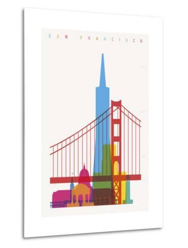 San Francisco-Yoni Alter-Metal Print