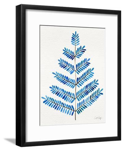 Leaflets in Blue ? Cat Coqullette-Cat Coquillette-Framed Art Print