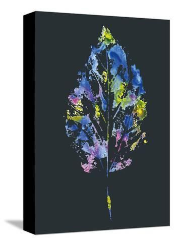 Beautiful Leaf of a Tree Painted Watercolors-molokot-Stretched Canvas Print