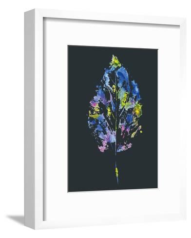 Beautiful Leaf of a Tree Painted Watercolors-molokot-Framed Art Print