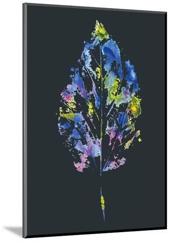 Beautiful Leaf of a Tree Painted Watercolors-molokot-Mounted Art Print