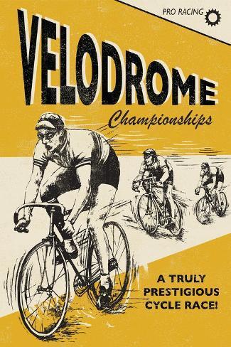 Velodrome-Rocket 68-Stretched Canvas Print