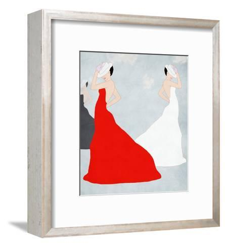Young Stylish Woman and Clothes Collection, Spring,, Summer-vipa21-Framed Art Print