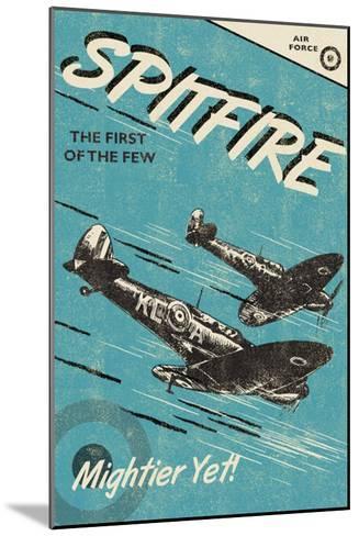 Spitfire-Rocket 68-Mounted Art Print
