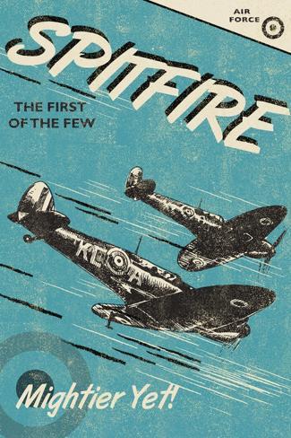 Spitfire-Rocket 68-Stretched Canvas Print