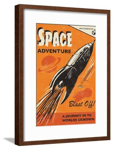 Space Adventure-Rocket 68-Framed Art Print