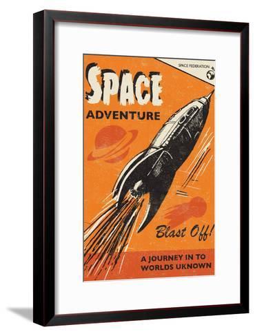 Space Adventure-Rocket 68-Framed Art Print