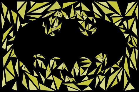 Batman Symbol-Cristian Mielu-Stretched Canvas Print