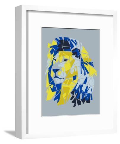 Broken Lion--Framed Art Print