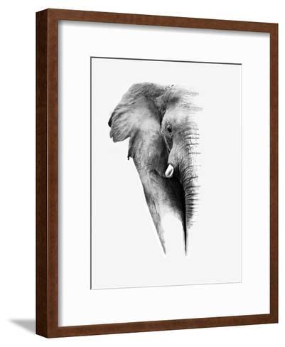 Artistic Black And White Elephant-Donvanstaden-Framed Art Print
