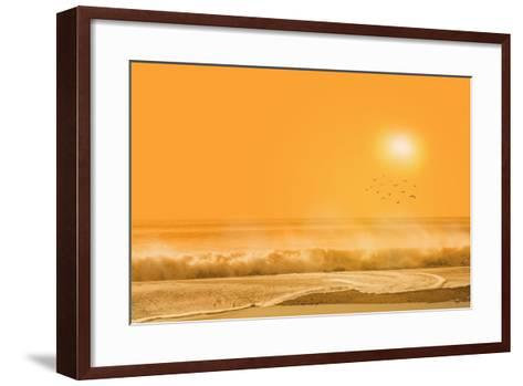 Birds Flying over Sea-Marco Carmassi-Framed Art Print