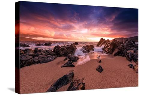 Creamsicle Sunset-Philippe Sainte-Laudy-Stretched Canvas Print