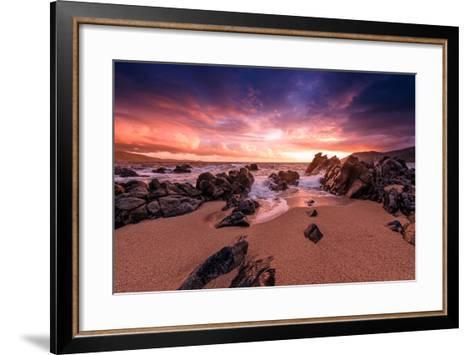 Creamsicle Sunset-Philippe Sainte-Laudy-Framed Art Print