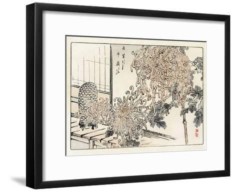 Crop of Stylized Spider Mums with Birdcage--Framed Art Print