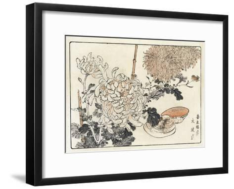 Stylized Flowers with Seashells--Framed Art Print
