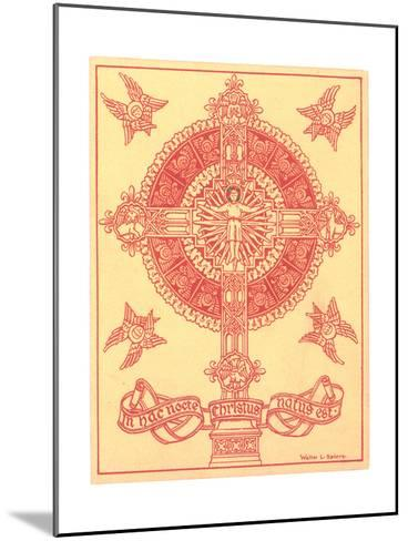 Ornamental Cross Medallion with Angels--Mounted Art Print
