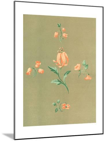 Stylized, Disconnected Orange Flower Stems--Mounted Art Print
