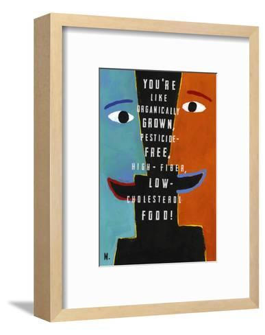 Faces in Profile Smiling at Each Other--Framed Art Print