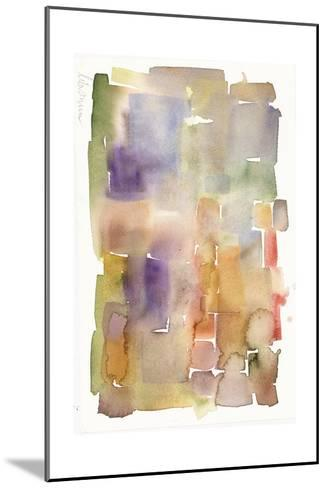 Abstract Watercolor Painting in Dull Colors--Mounted Art Print