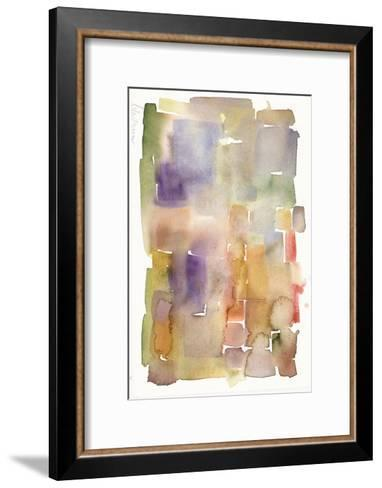 Abstract Watercolor Painting in Dull Colors--Framed Art Print