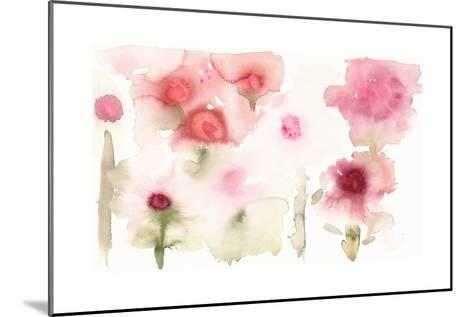 Watercolor Painting of Abstract Flowers--Mounted Art Print