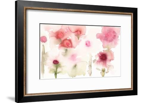 Watercolor Painting of Abstract Flowers--Framed Art Print