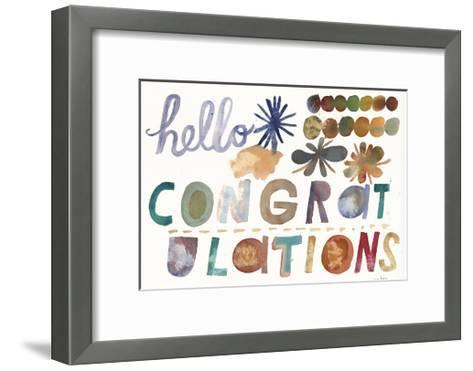 Hello and Congratulations Lettering--Framed Art Print