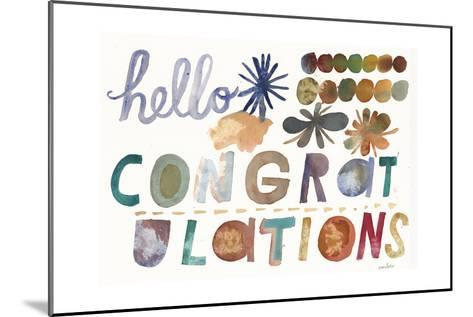 Hello and Congratulations Lettering--Mounted Art Print