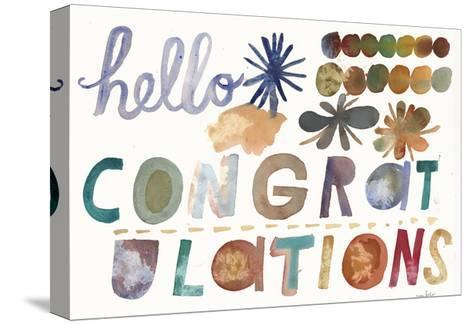 Hello and Congratulations Lettering--Stretched Canvas Print