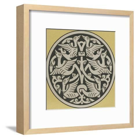 Medallion with Interwoven Birds Design--Framed Art Print