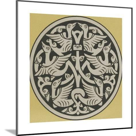 Medallion with Interwoven Birds Design--Mounted Art Print