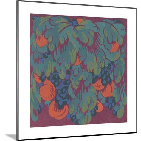 Stylized Fruits with Scalloped Leaves--Mounted Art Print