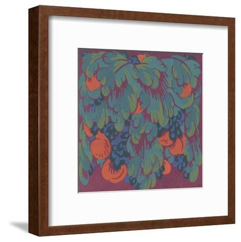 Stylized Fruits with Scalloped Leaves--Framed Art Print