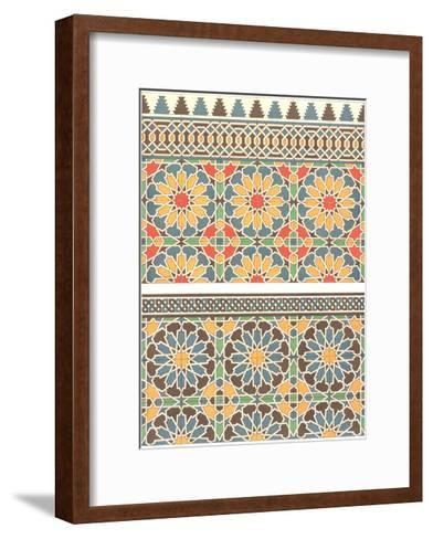 Geometric Abstract Floral Fretwork--Framed Art Print