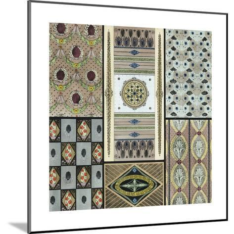 Panels and Borders with Stylized Floral Elements--Mounted Art Print