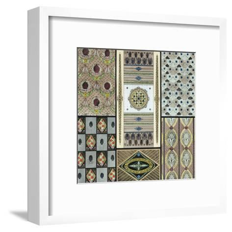 Panels and Borders with Stylized Floral Elements--Framed Art Print