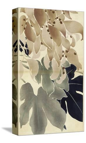 Close-Up of Watercolor Leaves--Stretched Canvas Print