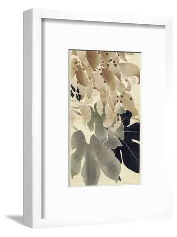 Close-Up of Watercolor Leaves--Framed Art Print