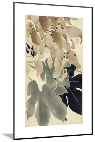 Close-Up of Watercolor Leaves--Mounted Art Print