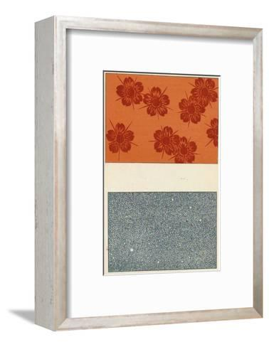 Two Designs, Dots and Flowers--Framed Art Print