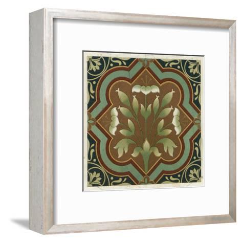 Stylized Flowering Plant in Geometric Frame--Framed Art Print