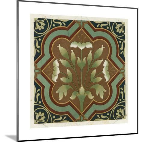 Stylized Flowering Plant in Geometric Frame--Mounted Art Print