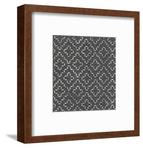 Illustrations of Geometric Patterns and Irregular Dots--Framed Art Print