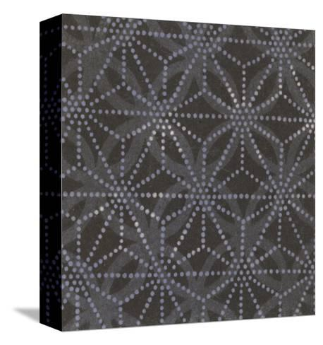 Illustrations of Stylized Crosses and Stars with Dots--Stretched Canvas Print