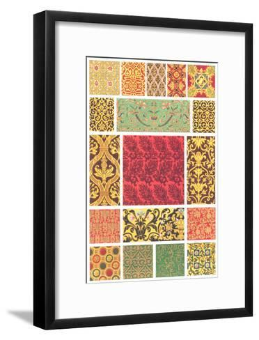 Book Pattern of Different Designs in Each Square--Framed Art Print