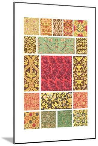 Book Pattern of Different Designs in Each Square--Mounted Art Print