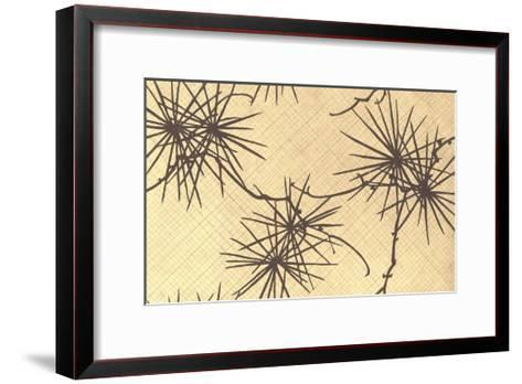 Multiple Illustrations of Abstracted Trees and Grapevines--Framed Art Print